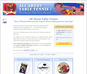 All About Table Tennis